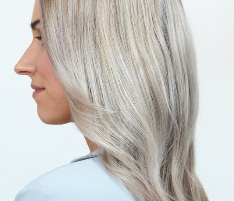 Hair color trend: Silver Blonde!