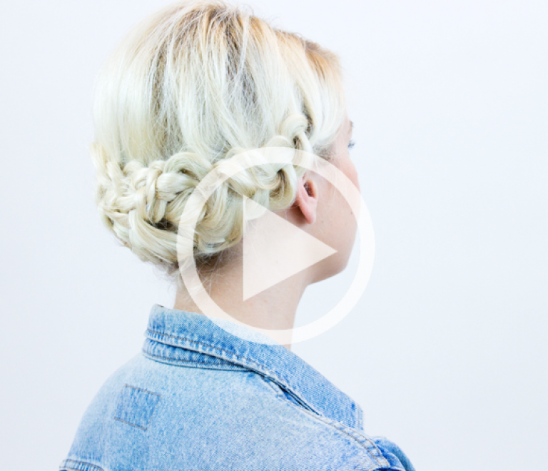 How to: braid updo